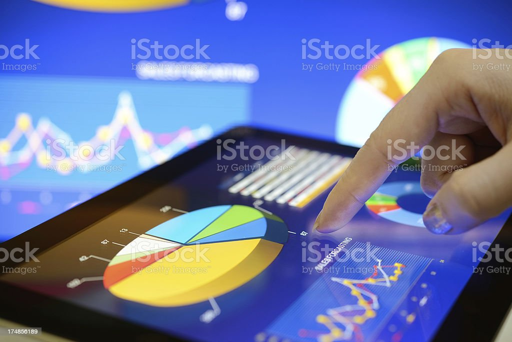 Touching chart royalty-free stock photo