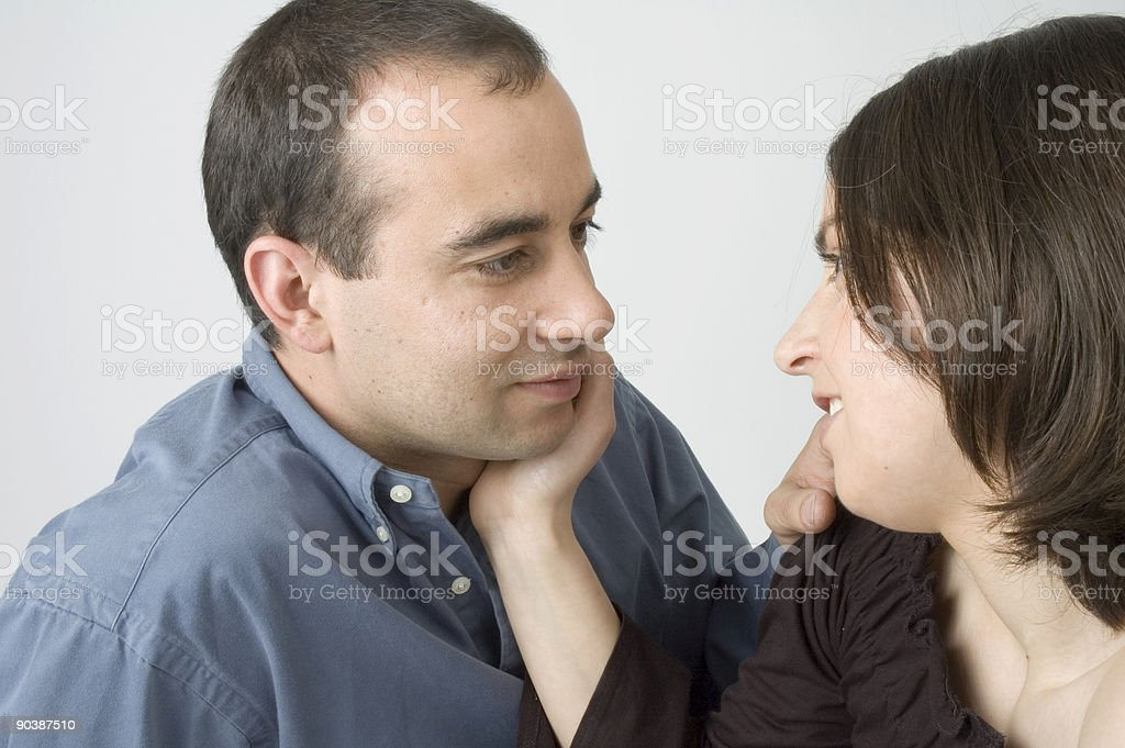 touching each other stock photo