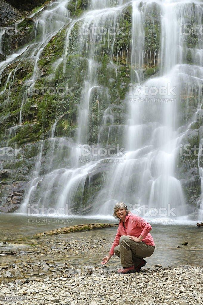 Touching fresh water royalty-free stock photo