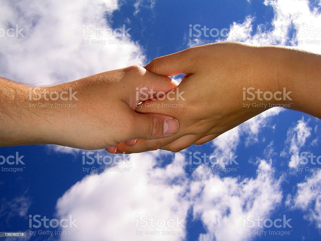 Touching Hands 2 royalty-free stock photo