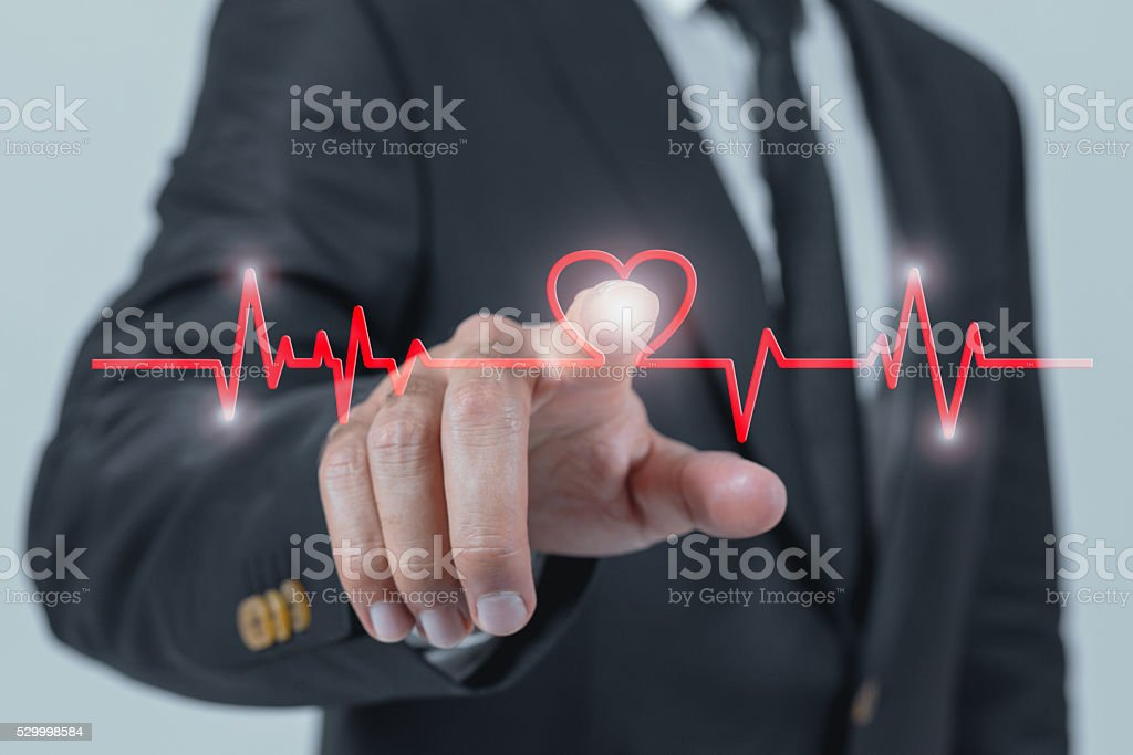 Touching Health stock photo