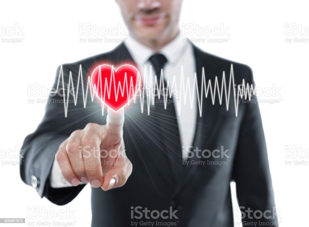 Touching heart stock photo