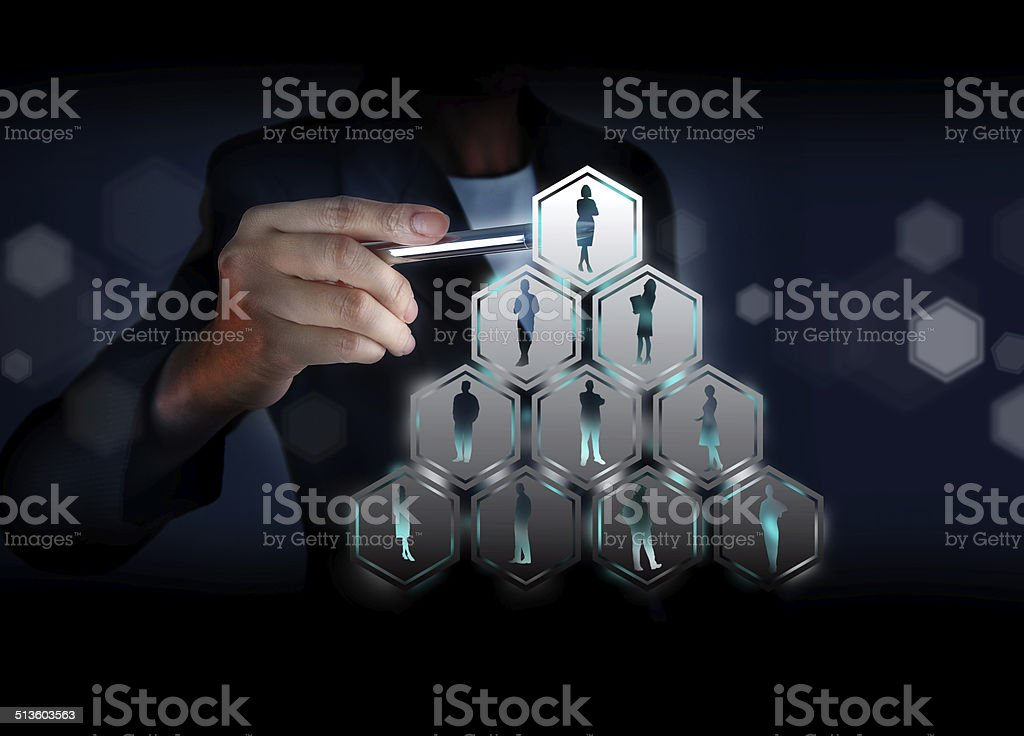 Touching Organization, Connect social networking stock photo
