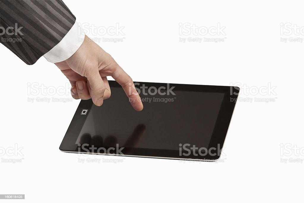 Touching Tablet Computer royalty-free stock photo