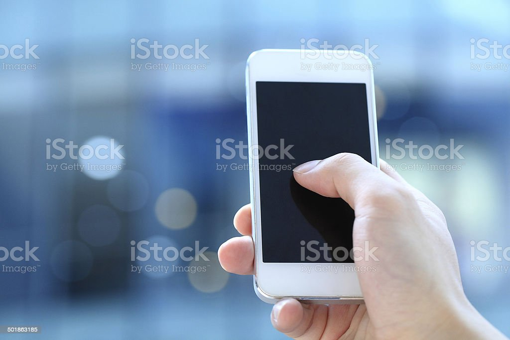 Touching Telephone stock photo