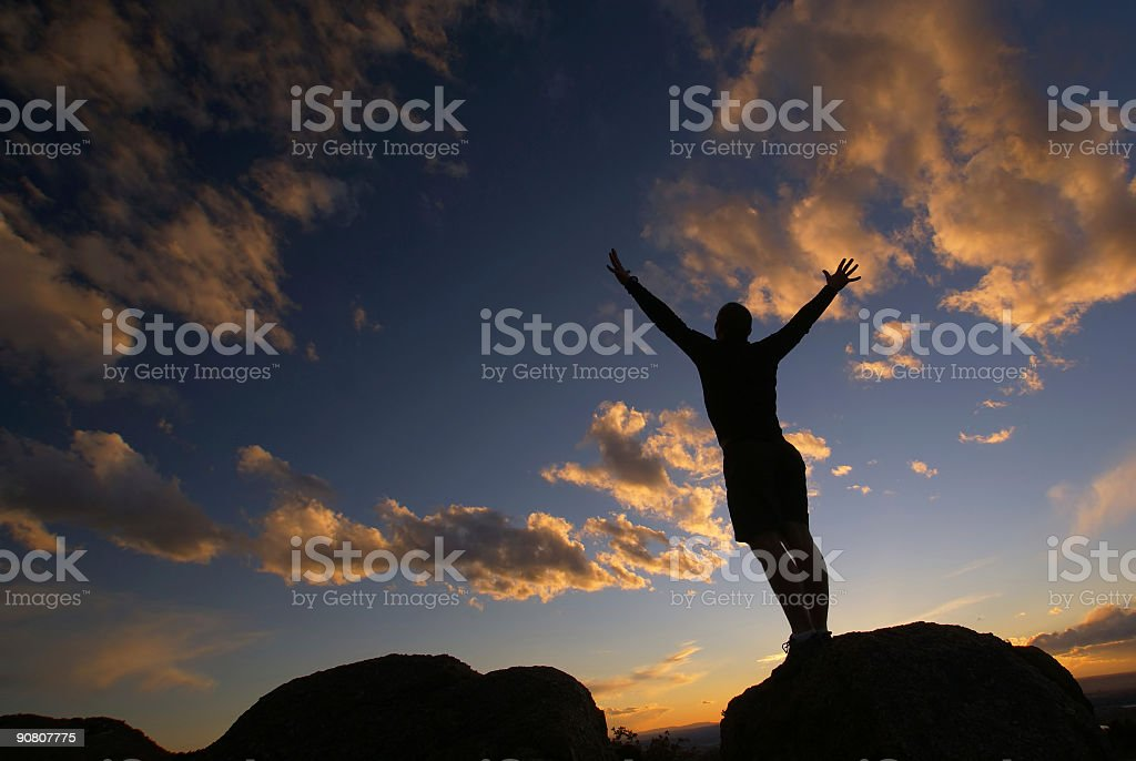 touching the sky royalty-free stock photo