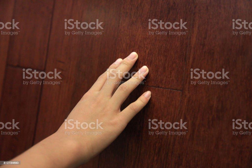 Touching Wood Texture stock photo
