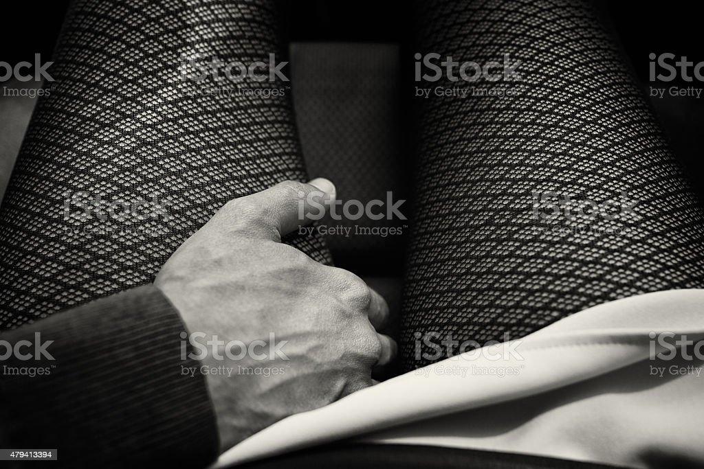 touching you stock photo
