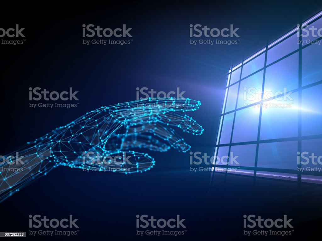 touchscreen, abstract concept composition stock photo