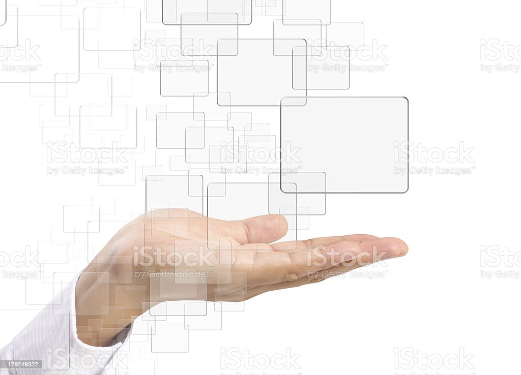 touchscreen button royalty-free stock photo