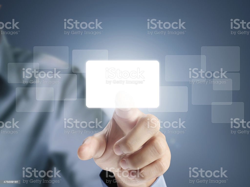 touchscreen button stock photo