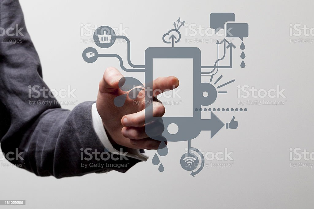 Touchscreen device royalty-free stock photo