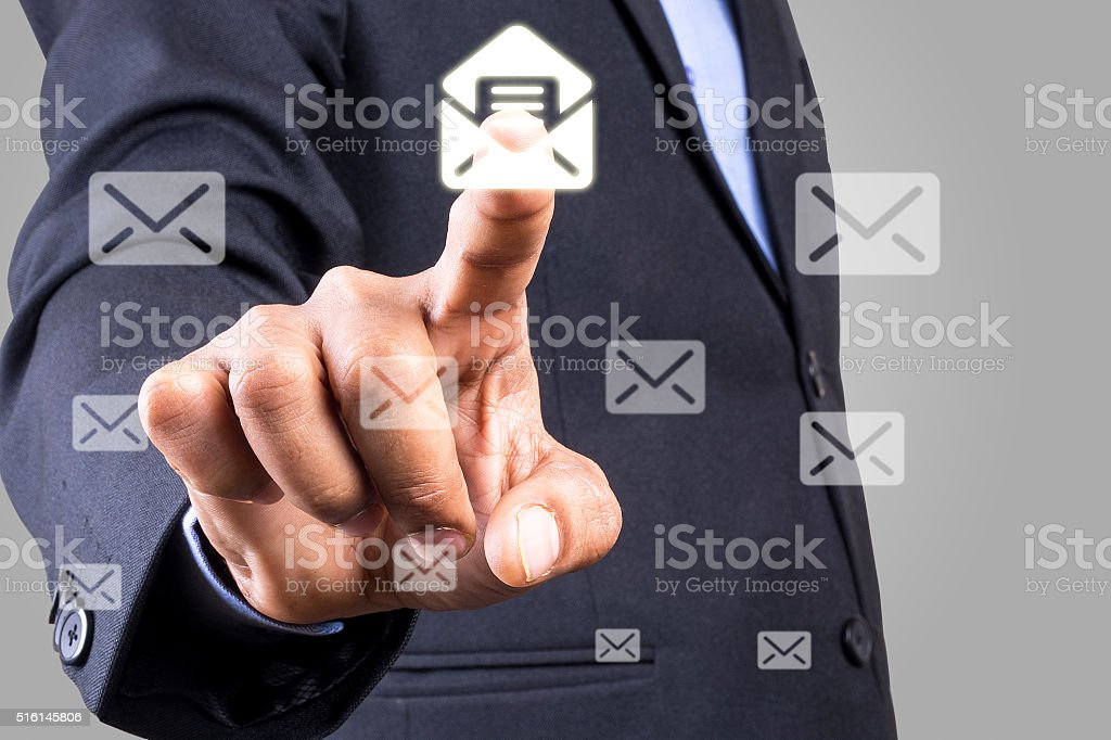 Touchscreen Email Concept stock photo