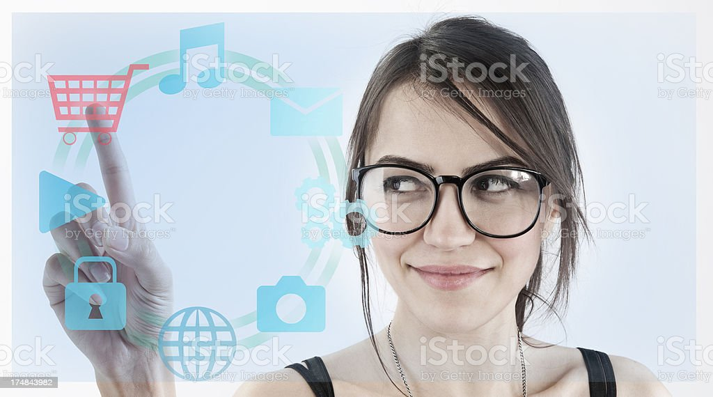 Touchscreen interface royalty-free stock photo