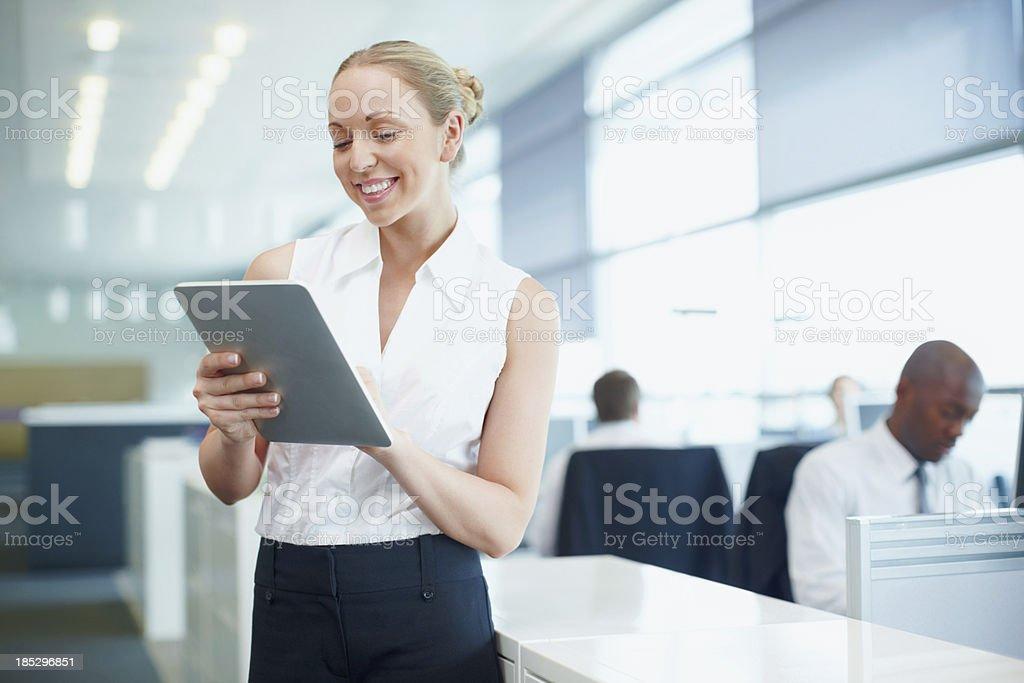 Touchscreen organisation royalty-free stock photo