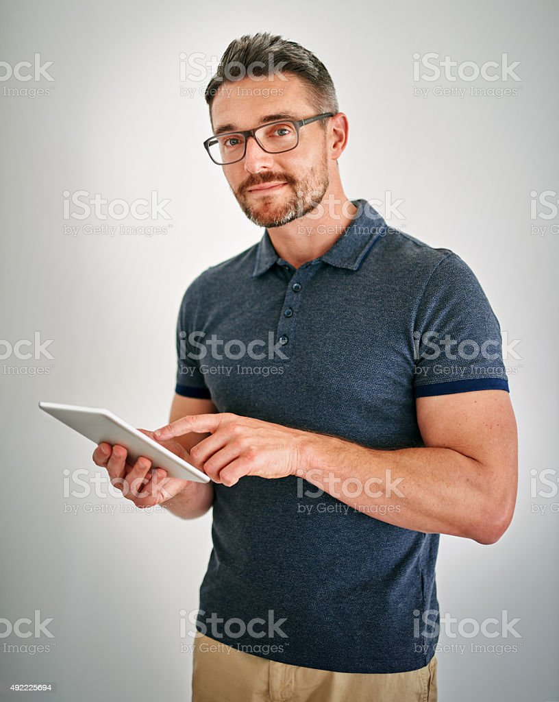 Touchscreen technology is the way to go stock photo