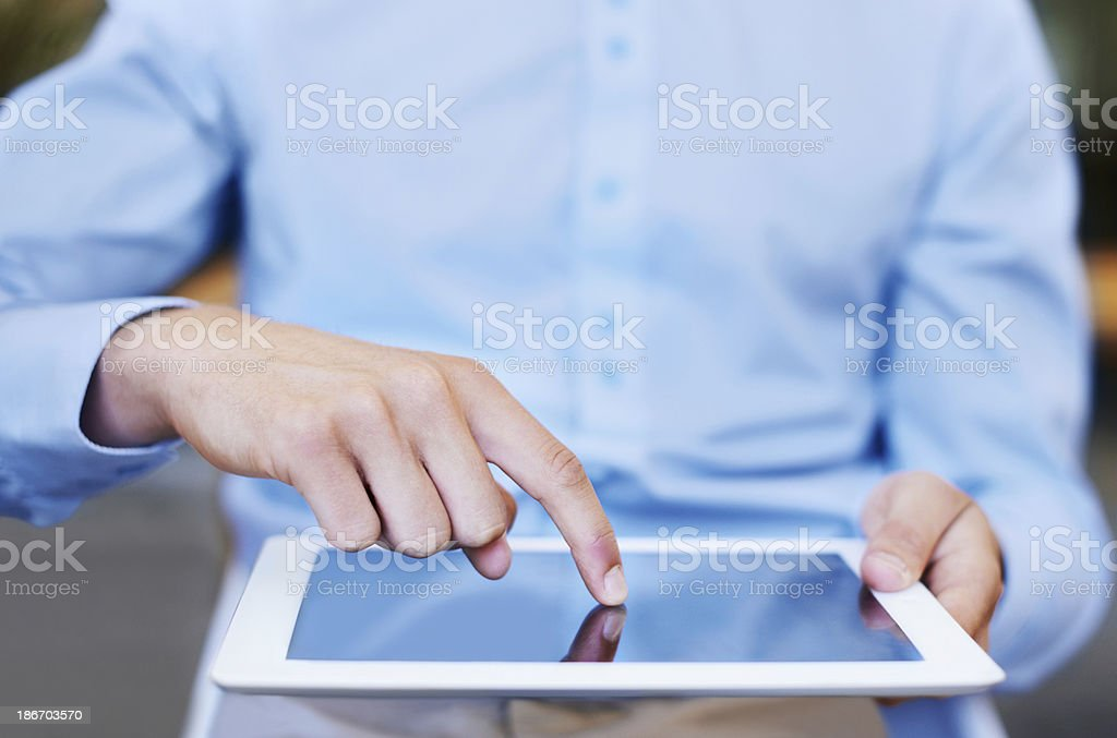 Touchscreen technology is user intuitive royalty-free stock photo