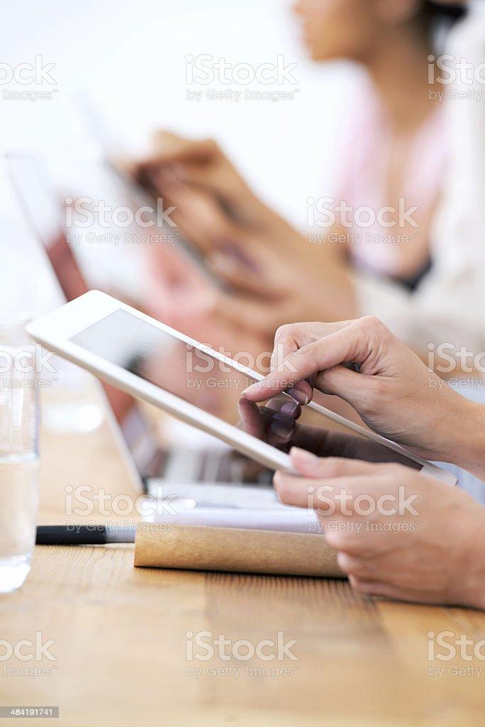 Touchscreens -Making work easier stock photo