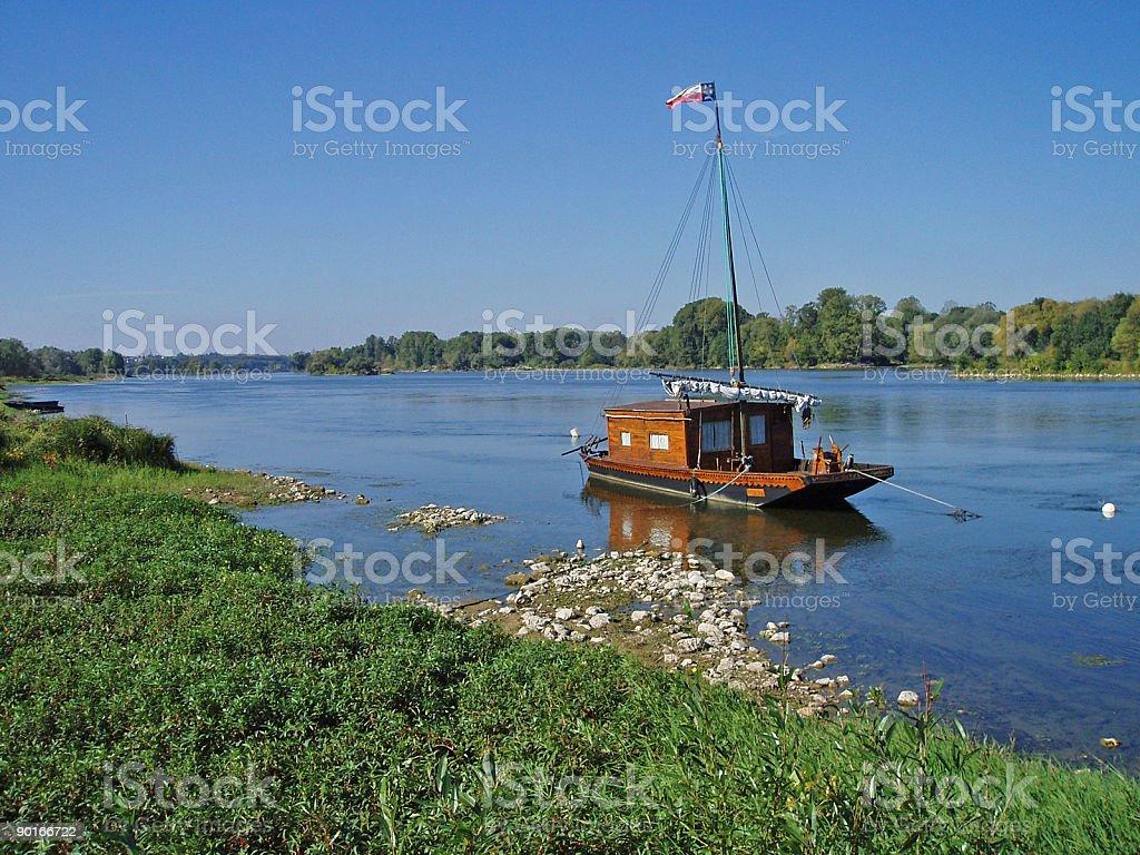 Toue de Loire stock photo