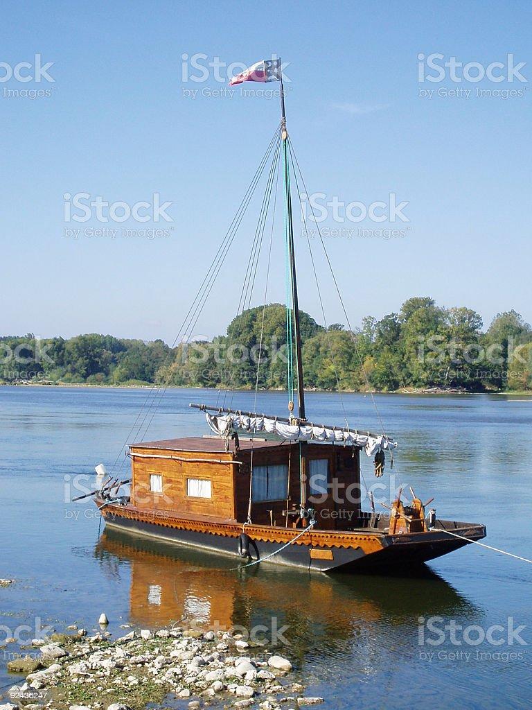 toue of Loire stock photo
