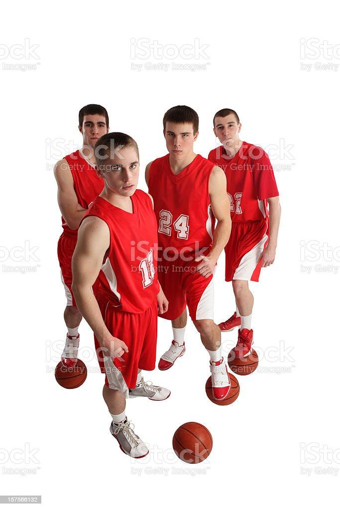 Tough Basketball Players with Big Attitude royalty-free stock photo