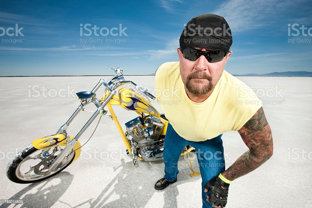 Tough Biker royalty-free stock photo