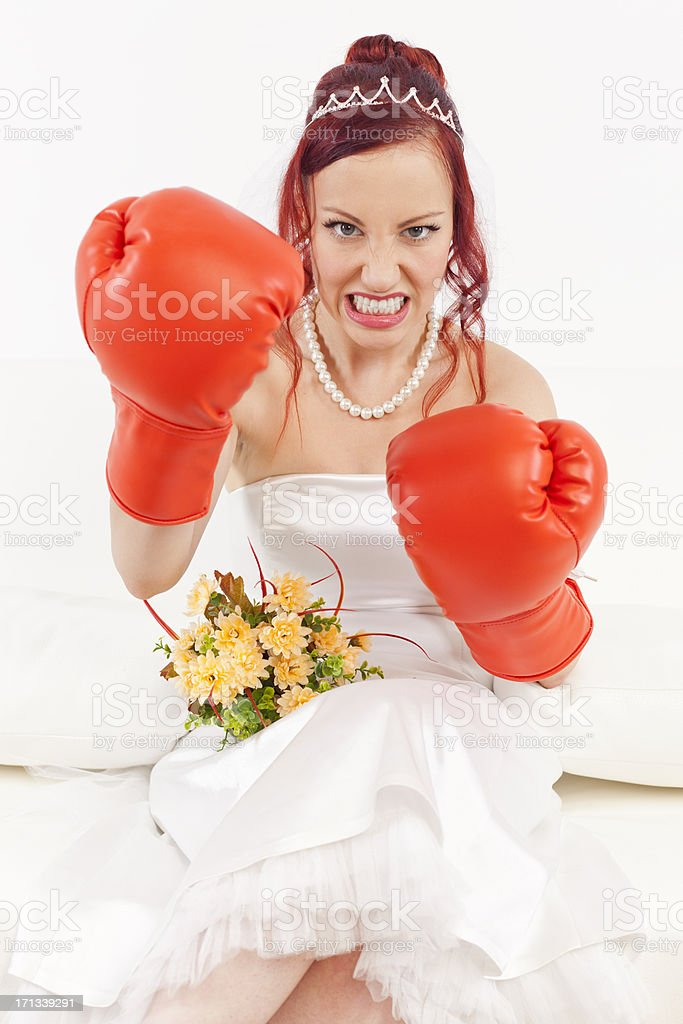Tough bride royalty-free stock photo
