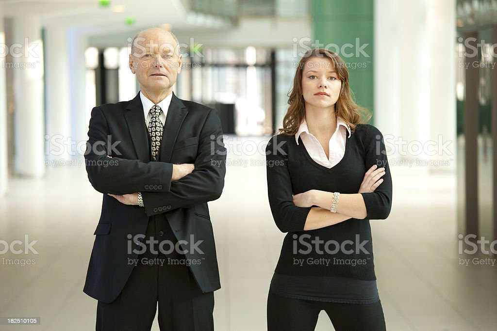 tough business team close royalty-free stock photo