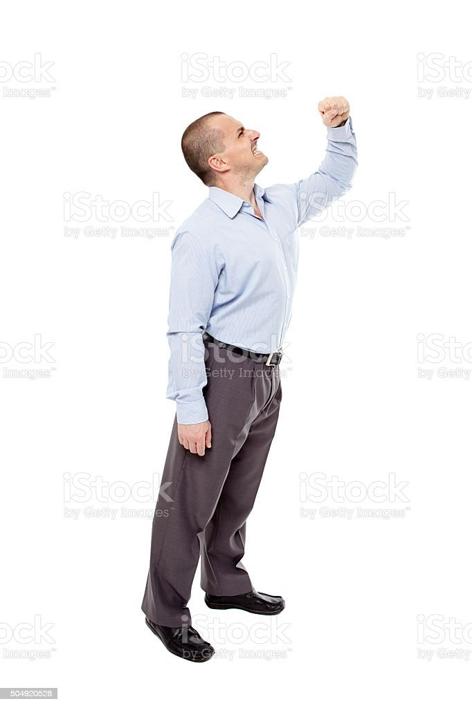 Tough businessman stock photo