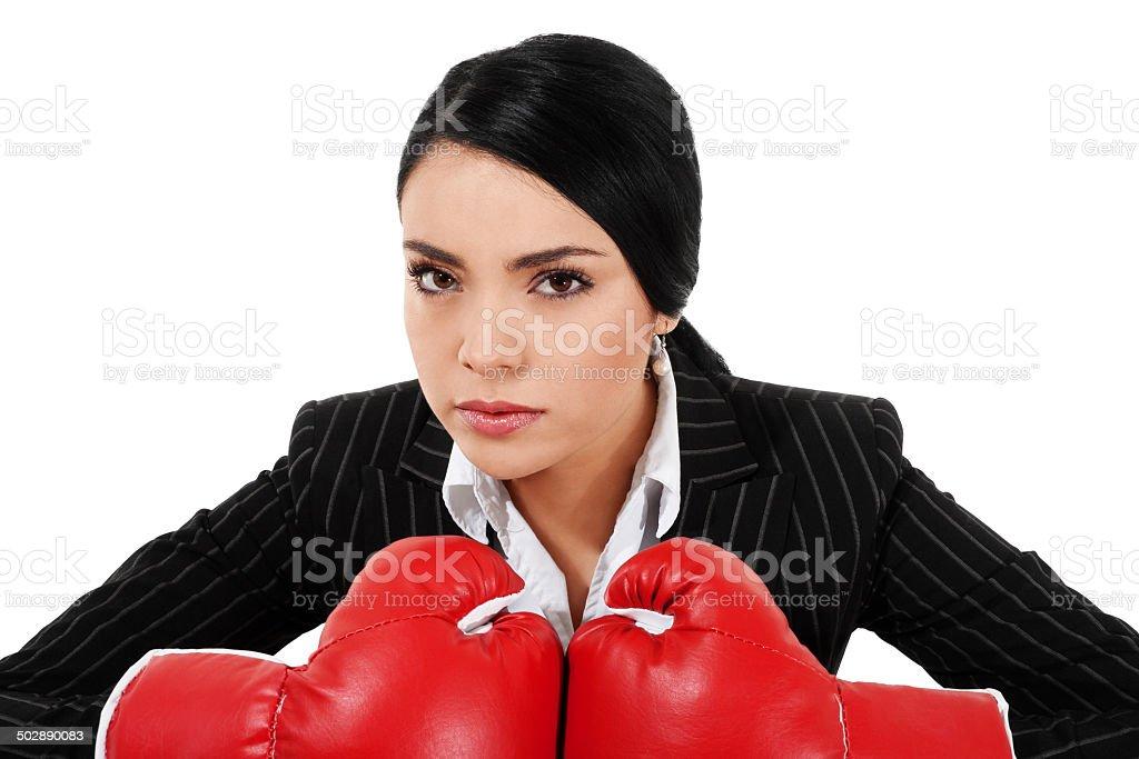 Tough Businesswoman stock photo