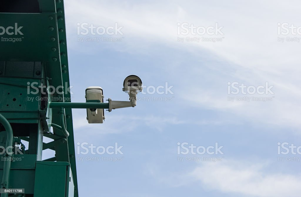 Tough cameras can record events such as traffic, accidents. stock photo