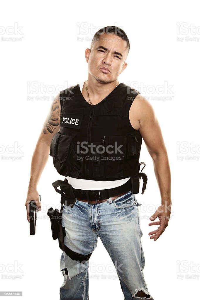 Tough Cop royalty-free stock photo