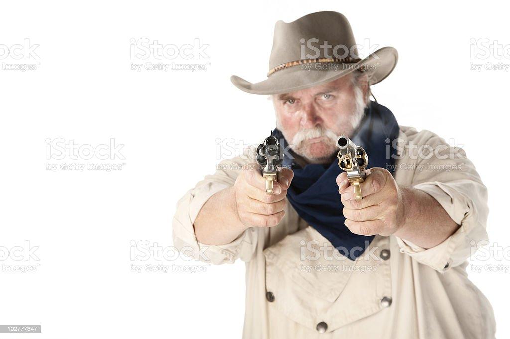 Tough cowboy stock photo