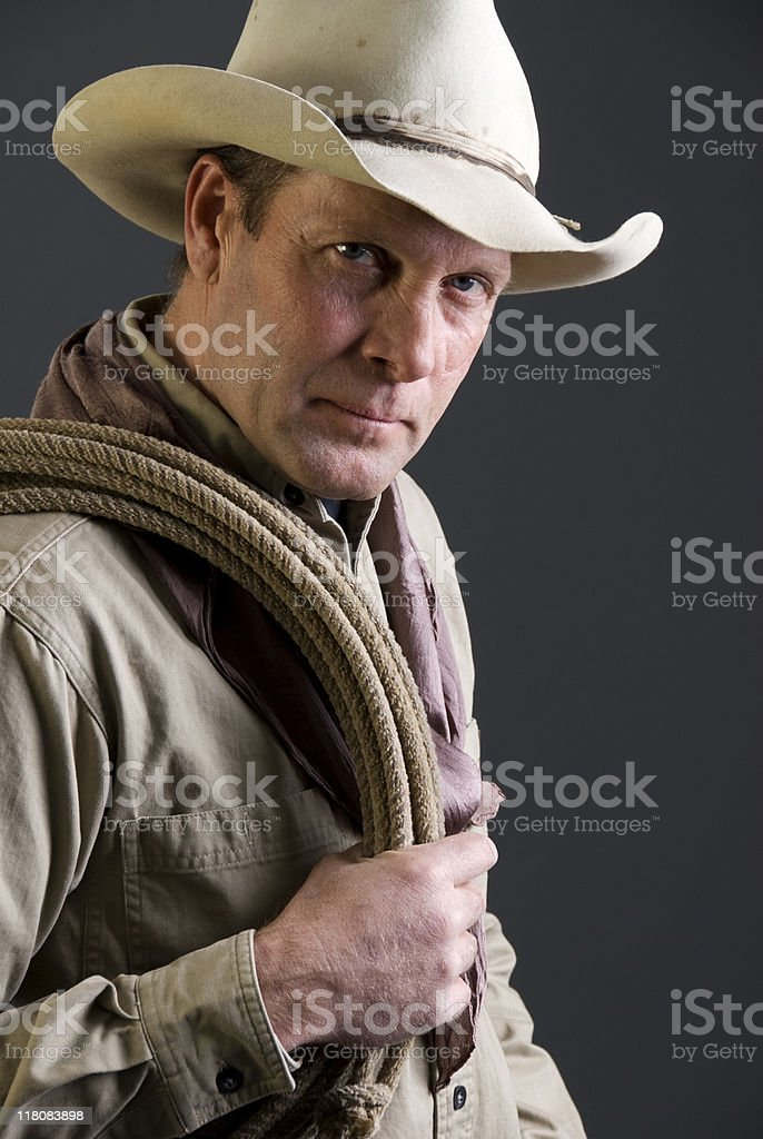 Tough cowboy royalty-free stock photo