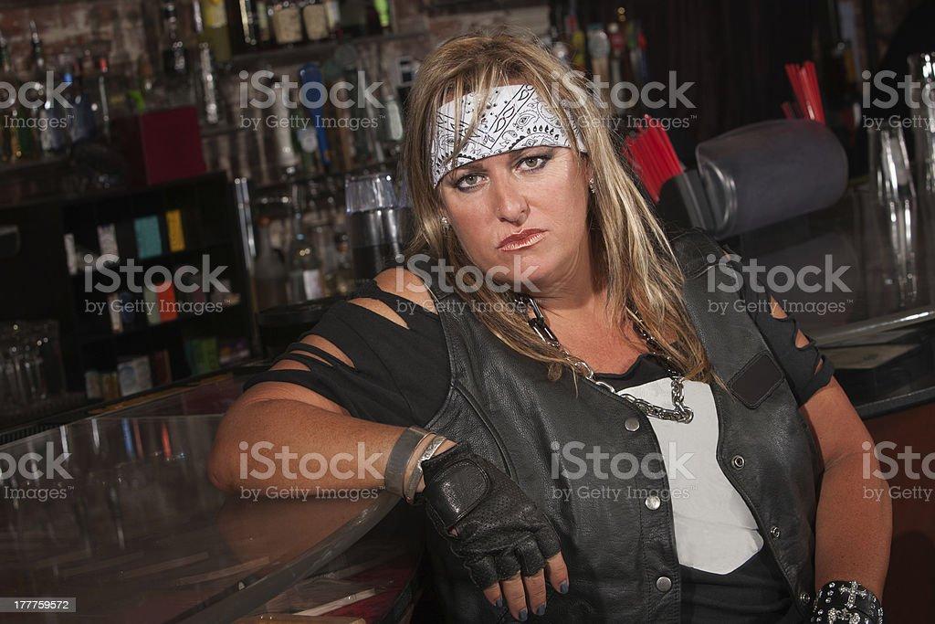 Tough Female Gang Member royalty-free stock photo