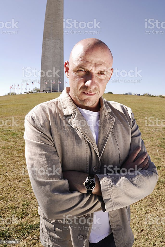 Tough Guy in DC royalty-free stock photo