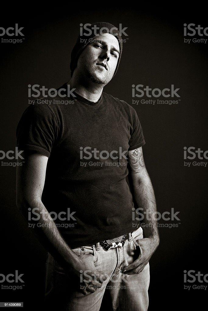 Tough guy royalty-free stock photo