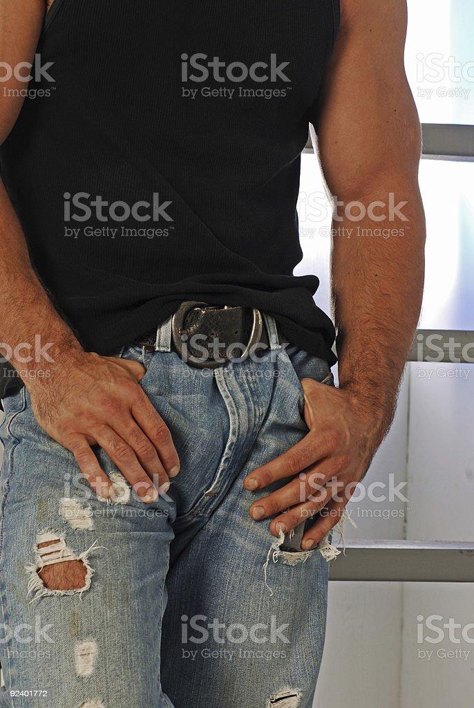 tough guy torso royalty-free stock photo