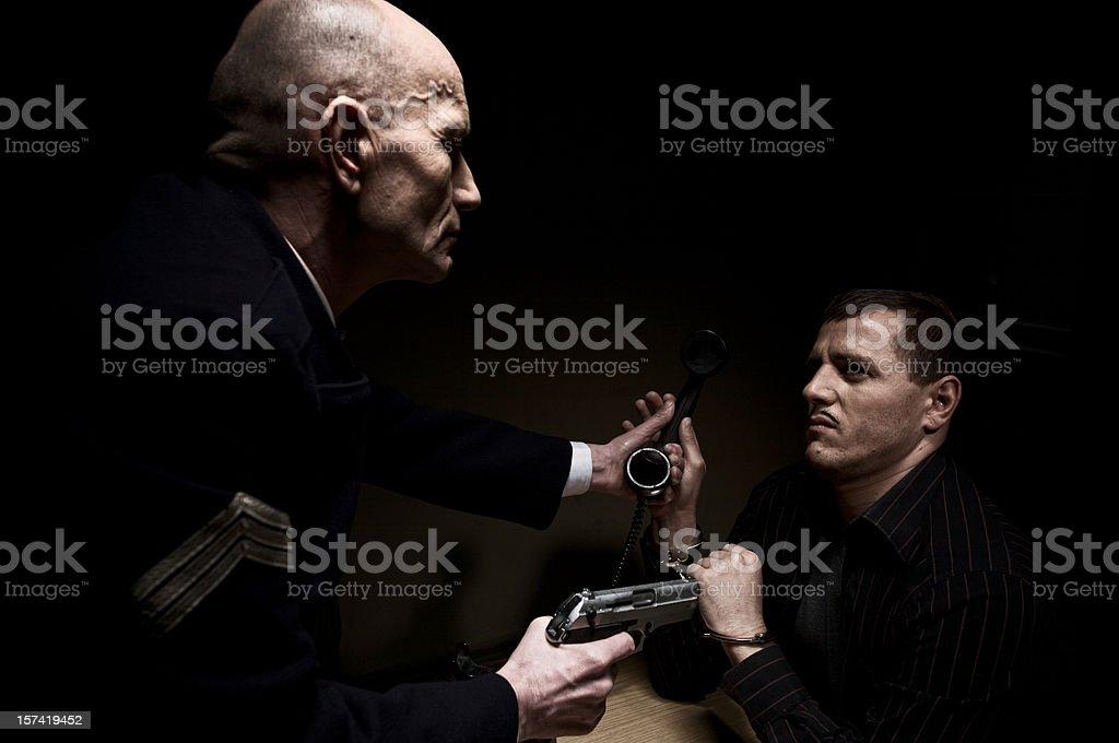Tough Interrogation stock photo