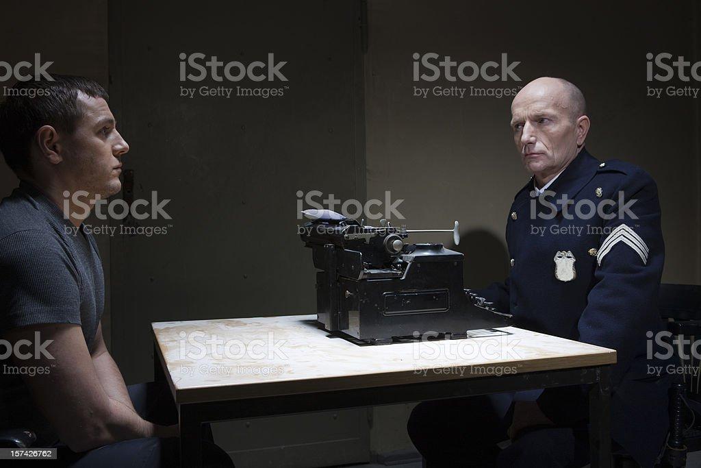 Tough interview stock photo