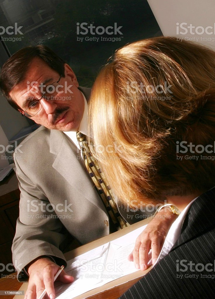 Tough Interview royalty-free stock photo