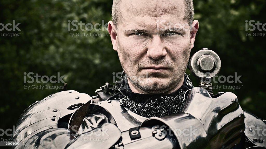 Tough knight stock photo
