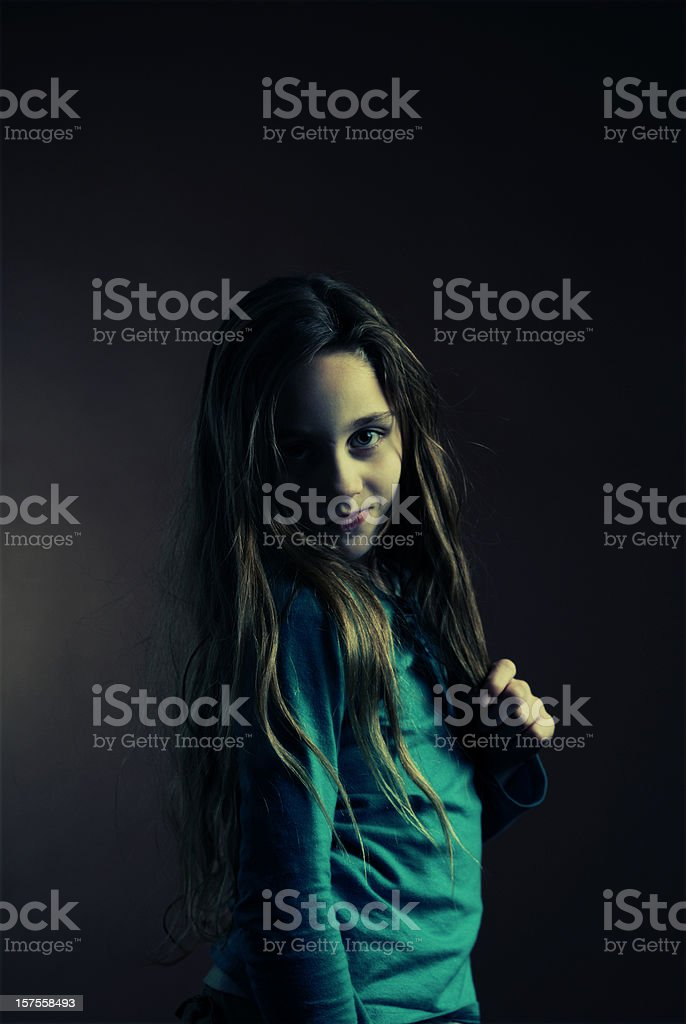 Tough Little Girl royalty-free stock photo