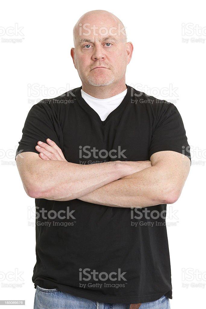 Tough Man Crosses Arms stock photo