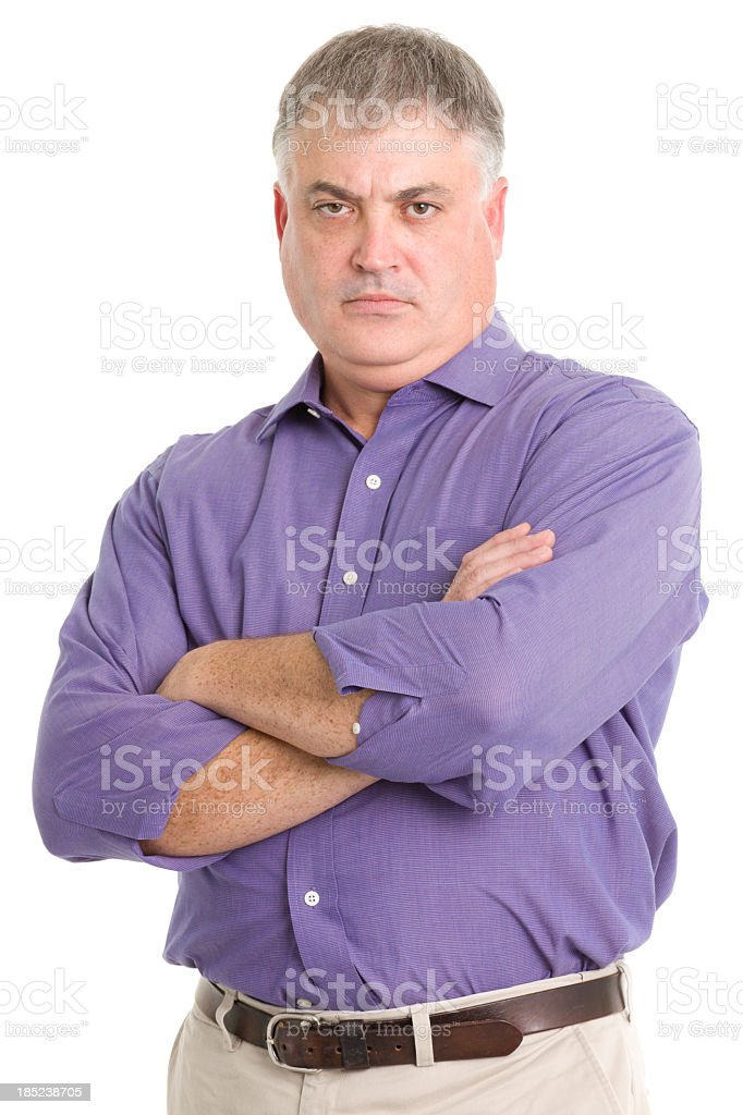 Tough Man Crosses Arms stock photo