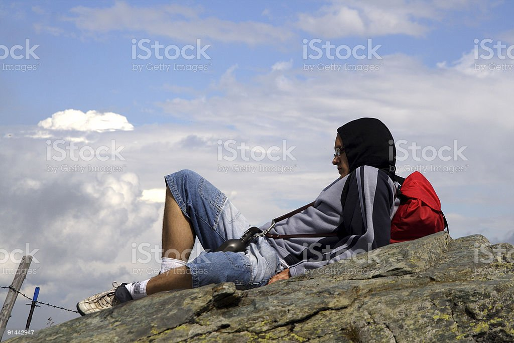 Tough man of the mountains royalty-free stock photo
