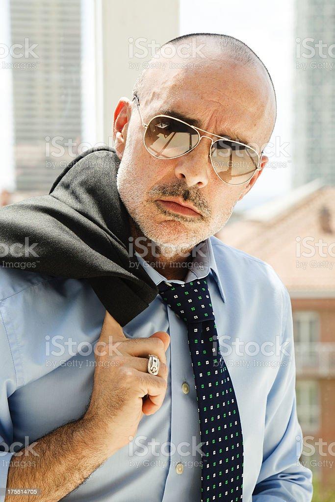 Tough man stock photo