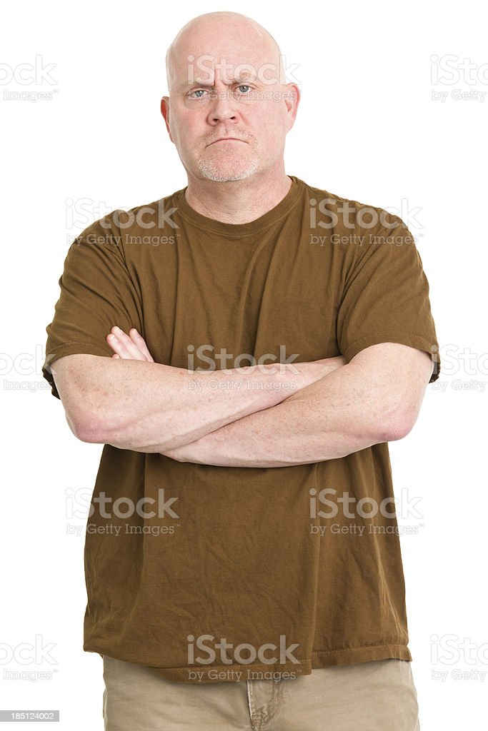 Tough Mature Man Portrait royalty-free stock photo