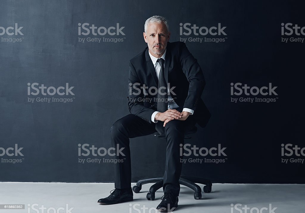 Tough minded and determined to succeed stock photo