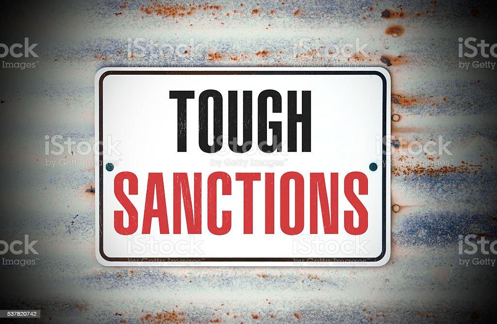 Tough Sanctions stock photo